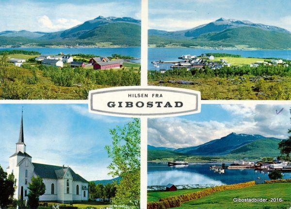 Gibostad ca 1960. Utgiver Aune forlag. Foto Ernst E. Jensen
