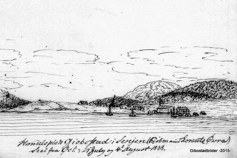 Tegning av Vossgraf datert til 21. juli og 8. august 1838